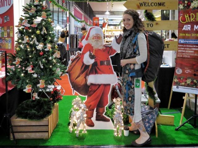 Meeting Santa in Kuala Lumpur's Airport - Malaysia - by Anika Mikkelson - Miss Maps - www.MissMaps.com