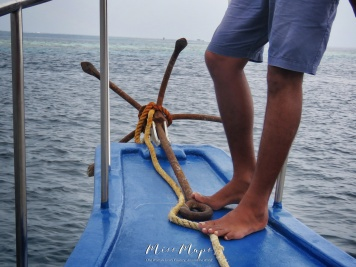 Preparing to Set the Anchor - Indian Ocean Maldives - by Anika Mikkelson - Miss Maps - www.MissMaps.com