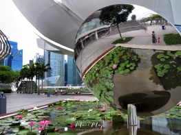 Reflections at Singapore's ArtScience Museum - by Anika Mikkelson - Miss Maps - www.MissMaps.com