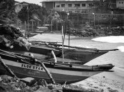 Blue Star Boat on the Beach - Galle Sri Lanka - by Anika Mikkelson - Miss Maps - www.MissMaps.com