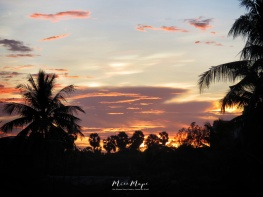 Another Sunset from Home - Yangon Myanmar - by Anika Mikkelson - Miss Maps - www.MissMaps.com