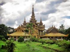 Bago Palace - Bago Pagu Myanmar - by Anika Mikkelson - Miss Maps - www.MissMaps.com