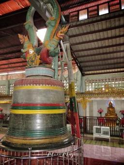 Bell Inside -Seated Buddha at The Ngat Htat Gyi Pagoda - Yangon Myanmar - by Anika Mikkelson - Miss Maps - www.MissMaps.com