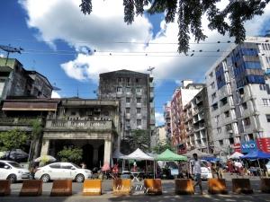Buildings of Downtown Yangon Myanmar - by Anika Mikkelson - Miss Maps - www.MissMaps.com