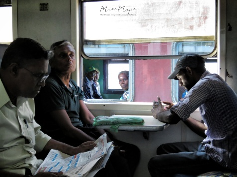 Business in the Front - Party in the Back - Train from Ella to Kandy Sri Lanka - by Anika Mikkelson - Miss Maps - www.MissMaps.com