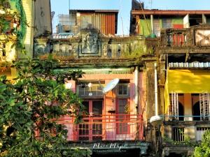Colorful Buildings of Yangon Myanmar - by Anika Mikkelson - Miss Maps - www.MissMaps.com