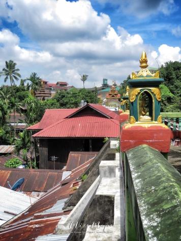 Colorful View From The Chauk Htat Gyi Pagoda - Yangon Myanmar - by Anika Mikkelson - Miss Maps - www.MissMaps.com