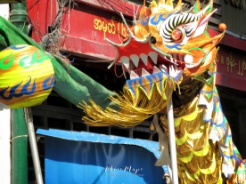 Dragon Dance and Lantern - Chinese New Year - Chinatown - Yangon Myanmar - by Anika Mikkelson - Miss Maps - www.MissMaps.com