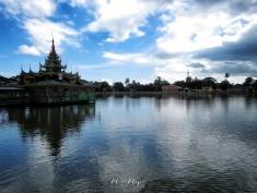 Floating Temple - Pagu Bago Myanmar - by Anika Mikkelson - Miss Maps - www.MissMaps.com