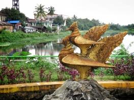 Golden Hintha Birds - The Symbol of Pagu Bago Myanmar - by Anika Mikkelson - Miss Maps - www.MissMaps.com