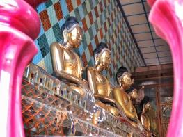Golden Tara - Female Buddha - Shwemawdaw Pagoda - Pagu Bago Myanmar - by Anika Mikkelson - Miss Maps - www.MissMaps.com copy