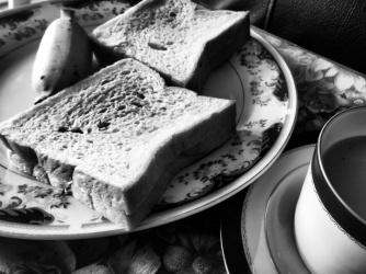 Breakfast of Chai, Bread, Jam and Sweet Seeni Bananas - Galle Sri Lanka - by Anika Mikkelson - Miss Maps - www.MissMaps.com
