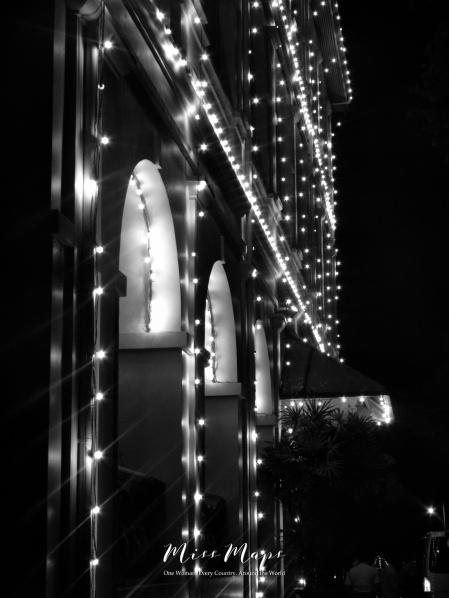 Night Lights at Intercontinental Hotel - Galle Sri Lanka - by Anika Mikkelson - Miss Maps - www.MissMaps.com