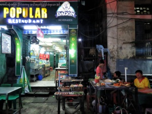 Not so Popular-Popular Restaurant - 19th Street - ChinaTown - Yangon Myanmar - by Anika Mikkelson - Miss Maps - www.MissMaps.com