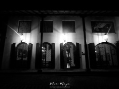 Stunning Architecture in Black and White - Old Town Galle Sri Lanka - by Anika Mikkelson - Miss Maps - www.MissMaps.com