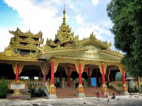 Prayers at Shwemawdaw Pagoda - Pagu Bago Myanmar - by Anika Mikkelson - Miss Maps - www.MissMaps.com