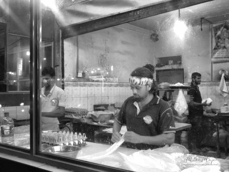 "Preparing Food at the ""Hotel"" (restaurant) - Galle Sri Lanka - by Anika Mikkelson - Miss Maps - www.MissMaps.com"