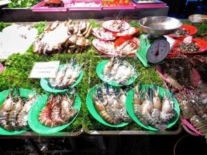 Preserved Prawns by the Plate - Chinatown - Yangon Myanmar - by Anika Mikkelson - Miss Maps - www.MissMaps.com