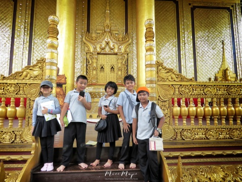 Some of my Students Looking Like a Pop Band at Bago Palace - Bago Pagu Myanmar - by Anika Mikkelson - Miss Maps - www.MissMaps.com