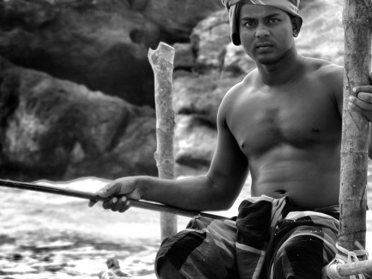 Stilt Fishermen Up-Close - Kegalle Sri Lanka - by Anika Mikkelson - Miss Maps - www.MissMaps.com