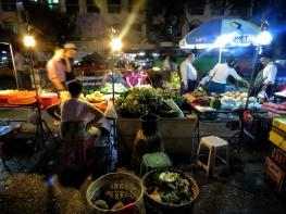 Street Food Fruit Vendors - ChinaTown - Yangon Myanmar - by Anika Mikkelson - Miss Maps - www.MissMaps.com