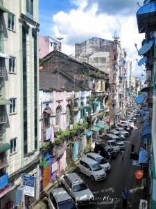 Streets of Yangon and Satellites - Yangon Myanmar - by Anika Mikkelson - Miss Maps - www.MissMaps.com