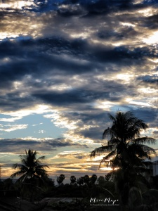 Sun Setting from the Balcony - Yangon Myanmar - by Anika Mikkelson - Miss Maps - www.MissMaps.com