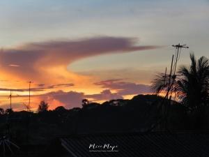 Swirling Sunset - Yangon Myanmar - by Anika Mikkelson - Miss Maps - www.MissMaps.com