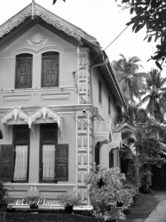 Traditional Home in Black and White - Galle Sri Lanka - by Anika Mikkelson - Miss Maps - www.MissMaps.com