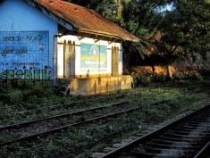 Views from the Train - Ella Train Station in the Morning - Ella to Kandy - Sri Lanka - by Anika Mikkelson - Miss Maps - www.MissMaps.com