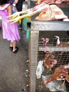 What Lies Above - Yangon Street Market - Yangon Rangoon Myanmar - by Anika Mikkelson - Miss Maps - www.MissMaps - www.MissMaps.com