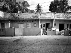 Women Talking Outside Their Homes - Galle Sri Lanka - by Anika Mikkelson - Miss Maps - www.MissMaps.com