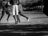 Barefoot Basketball in Black and White - Rusinga Island Kenya - by Anika Mikkelson - Miss Maps - www.MissMaps.com