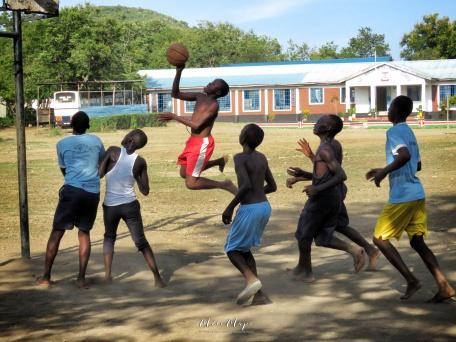 Barefoot Jumpshot - Rusinga Island Kenya - by Anika Mikkelson - Miss Maps - www.MissMaps.com