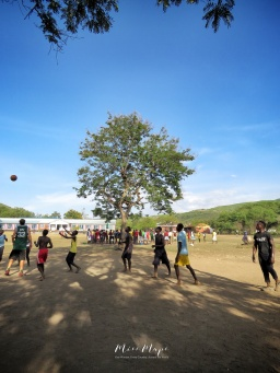 Basketball Court - Rusinga Island Kenya - by Anika Mikkelson - Miss Maps - www.MissMaps.com