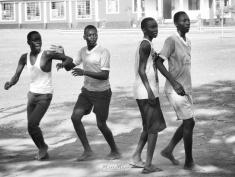 Basketball in Black and White - Rusinga Island, Kenya - by Anika Mikkelson - Miss Maps - www.MissMaps.com