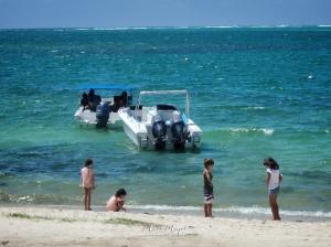 Children Down by the Sea - Ile aux Cerfs - Mauritius - by Anika Mikkelson - Miss Maps - www.MissMaps.com
