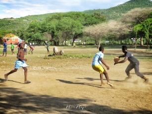Dirt Ground Basketball Court - Rusinga Island Kenya - by Anika Mikkelson - Miss Maps - www.MissMaps.com