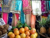 Saris and Fruits - Mauritius Market - by Anika Mikkelson - Miss Maps - www.MissMaps.com