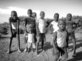 Local Children with Great Attitudes in Black and White - Rusinga Island Kenya - by Anika Mikkelson - Miss Maps - www.MissMaps.com