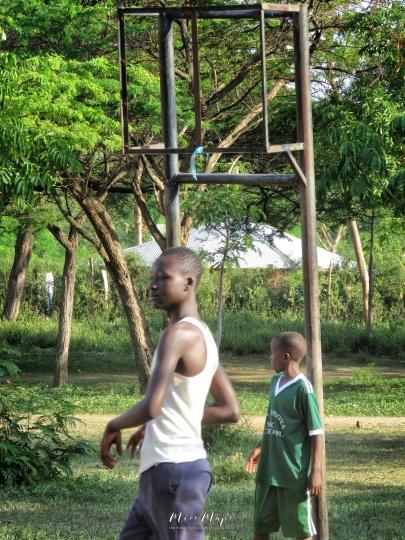 No Backboard Basketball - Rusinga Island Kenya - by Anika Mikkelson - Miss Maps - www.MissMaps.com