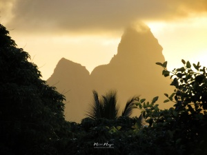 Rooftop Mountains at Sunset - Mauritius - by Anika Mikkelson - Miss Maps - www.MissMaps.com
