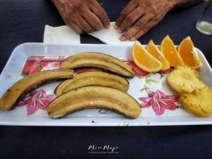 Smoked Banana Dessert - Ile aux Cerfs - Mauritius - by Anika Mikkelson - Miss Maps - www.MissMaps.com