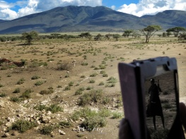 Photo of a Photo - Masai Man - Serengeti National Park - Tanzania - by Anika Mikkelson - Miss Maps - www.MissMaps.com