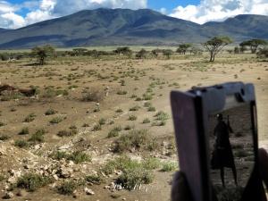Photo of a Photo - Masai Man - Serengeti National Park - Tanzania - by Anika Mikkelson - Miss Maps - www.MissMaps.com