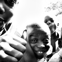 School Boys in Black and White 2 - Rucinga Island Kenya - by Anika Mikkelson - Miss Maps - www.MissMaps.com