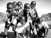School Boys in Black and White 3 - Rucinga Island Kenya - by Anika Mikkelson - Miss Maps - www.MissMaps.com