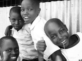 School Boys in Black and White 5 - Rucinga Island Kenya - by Anika Mikkelson - Miss Maps - www.MissMaps.com
