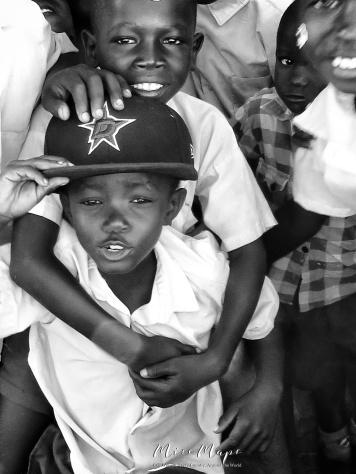 School Boys in Black and White 8 - Rucinga Island Kenya - by Anika Mikkelson - Miss Maps - www.MissMaps.com