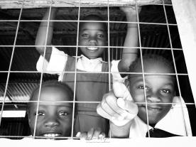 School Girls in Black and White 7 - Rucinga Island Kenya - by Anika Mikkelson - Miss Maps - www.MissMaps.com